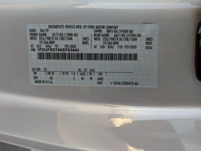 2019 F-550 Regular Cab DRW 4x2,  Cab Chassis #T198295 - photo 22