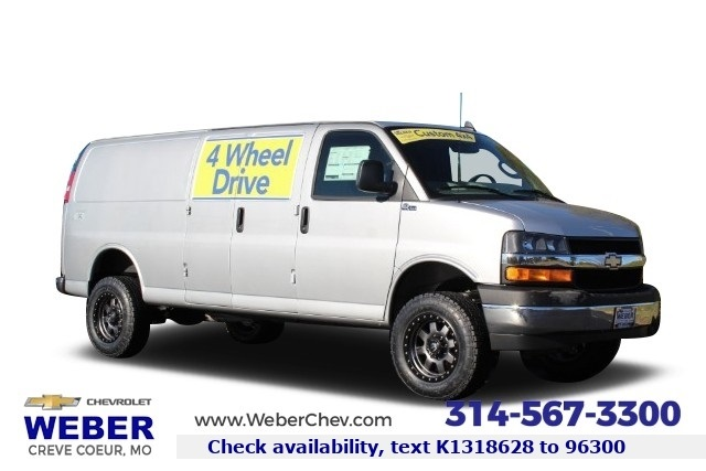 2019 Chevrolet Express 3500 4x2, Quigley Motor Company Empty Cargo Van #T10532 - photo 1