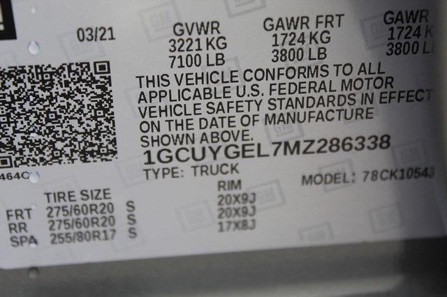 2021 Chevrolet Silverado 1500 Crew Cab 4x4, Pickup #T13319 - photo 24