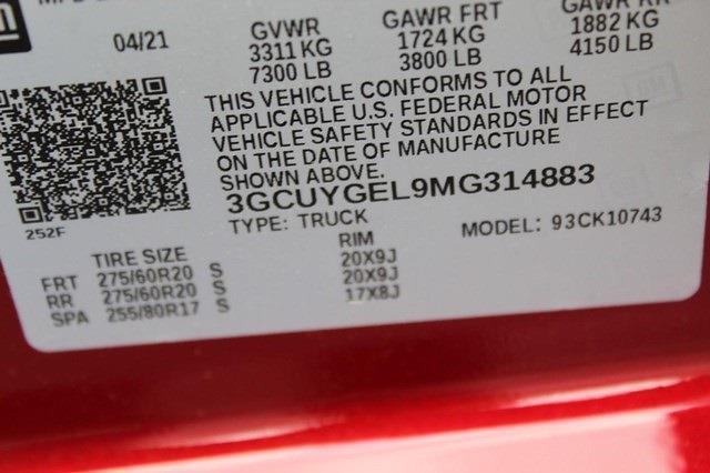 2021 Chevrolet Silverado 1500 Crew Cab 4x4, Pickup #T13405 - photo 22