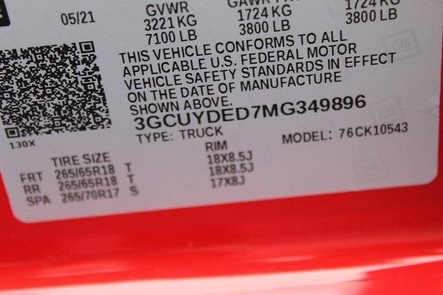2021 Chevrolet Silverado 1500 Crew Cab 4x4, Pickup #T13477 - photo 20