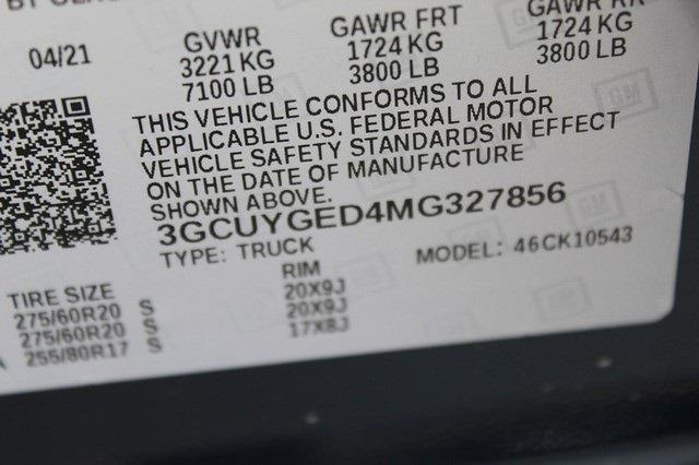 2021 Chevrolet Silverado 1500 Crew Cab 4x4, Pickup #T13492 - photo 22