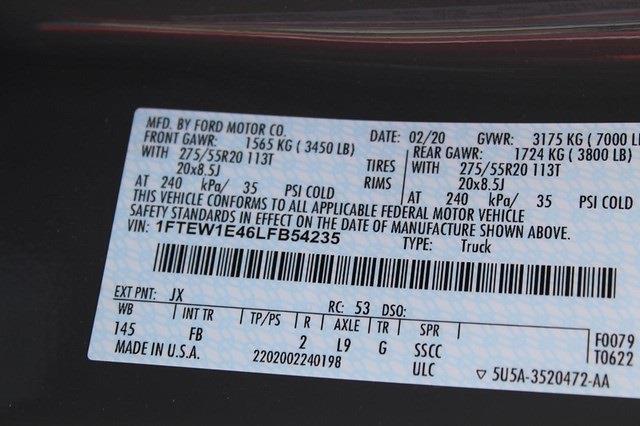 2020 F-150 SuperCrew Cab 4x4,  Pickup #T13622A - photo 30