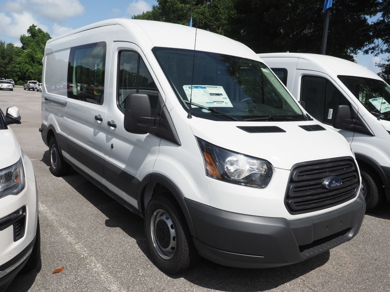 2018 Transit 150 Med Roof 4x2,  Empty Cargo Van #18T1137 - photo 3