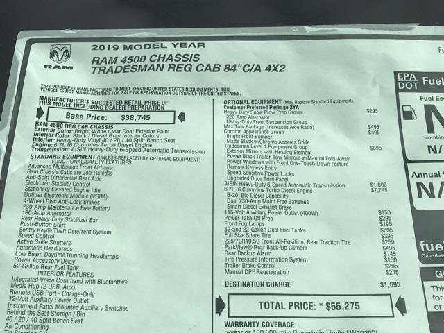 2019 Ram 4500 Regular Cab DRW 4x2, Platform Body #D190443 - photo 38
