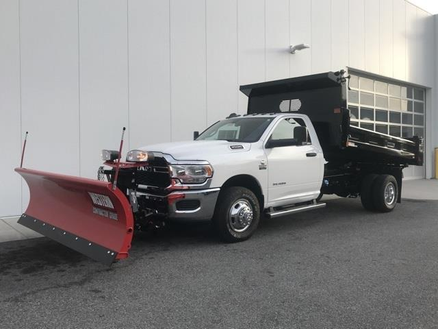 2019 Ram 3500 Regular Cab DRW 4x4, Rugby Eliminator LP Steel Dump Body #D190522 - photo 3