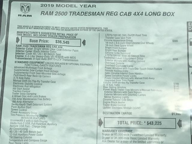 2019 Ram 2500 Regular Cab 4x4, Western Snowplow Pickup #D190541 - photo 26