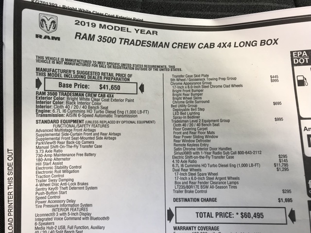2019 Ram 3500 Crew Cab DRW 4x4, Pickup #D190644 - photo 29