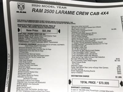 2020 Ram 2500 Crew Cab 4x4, Pickup #D200305 - photo 29