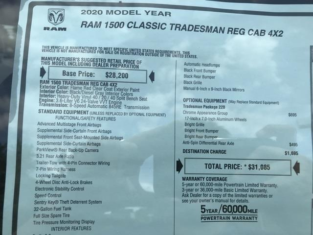 2020 Ram 1500 Regular Cab 4x2, Pickup #D200642 - photo 27