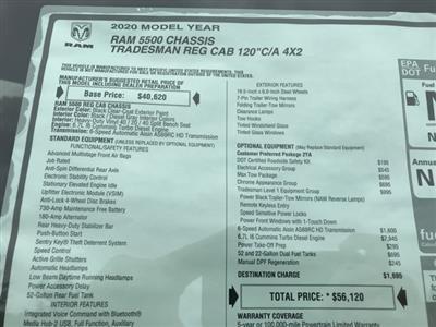 2020 Ram 5500 Regular Cab DRW 4x2, Cab Chassis #D200655 - photo 23