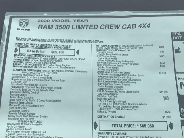 2020 Ram 3500 Crew Cab DRW 4x4, Pickup #D200728 - photo 40