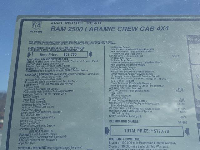 2021 Ram 2500 Crew Cab 4x4, Pickup #D210529 - photo 40
