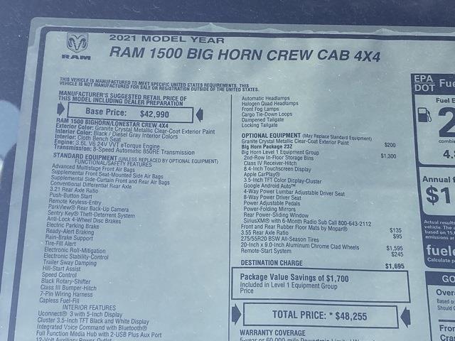 2021 Ram 1500 Quad Cab 4x4, Pickup #D210631 - photo 39
