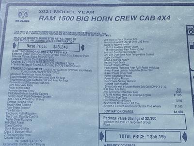2021 Ram 1500 Crew Cab 4x4, Pickup #D210722 - photo 34