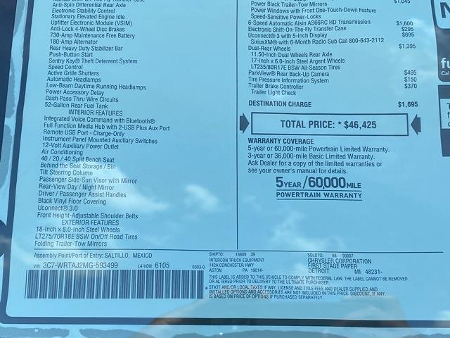 2021 Ram 3500 Regular Cab DRW 4x4,  Warner Truck Bodies Select Pro Service Body #D210780 - photo 36
