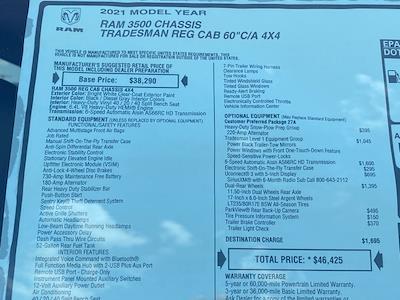 2021 Ram 3500 Regular Cab DRW 4x4,  Warner Truck Bodies Select Pro Service Body #D210780 - photo 35