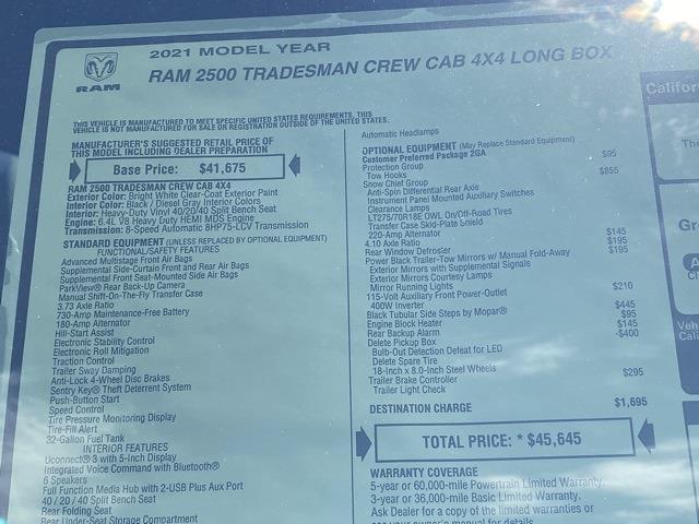 2021 Ram 2500 Crew Cab 4x4,  Knapheide Steel Service Body #D211069 - photo 36