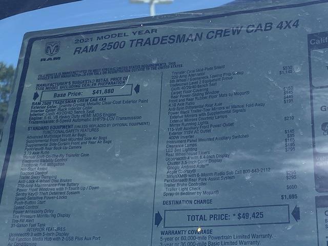 2021 Ram 2500 Crew Cab 4x4,  Pickup #D211134 - photo 35