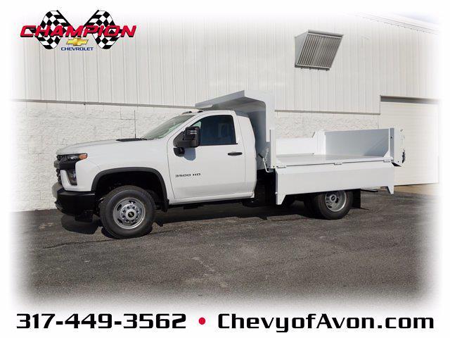 2020 Chevrolet Silverado 3500 Regular Cab DRW 4x4, Clark Truck Equipment Dump Body #LF343630 - photo 1