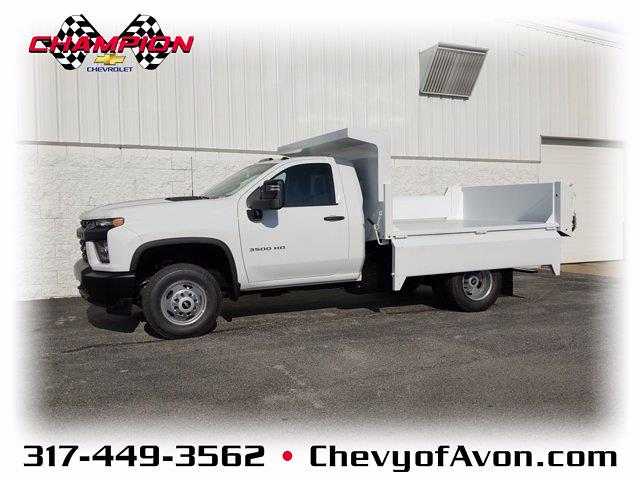 2020 Chevrolet Silverado 3500 Regular Cab DRW 4x4, Clark Truck Equipment Dump Body #LF343630 - photo 1