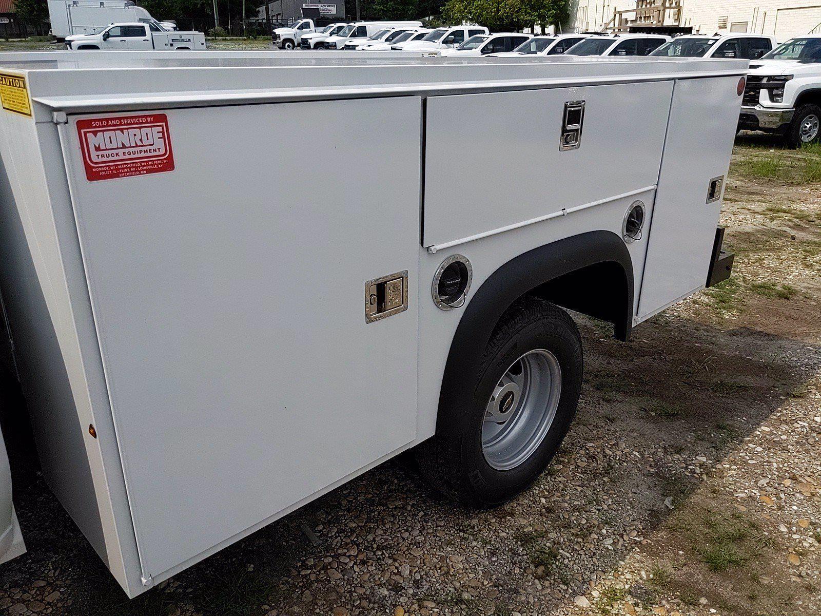 2021 Silverado 3500 Crew Cab 4x2,  Monroe Truck Equipment MSS II Service Body #351030 - photo 13