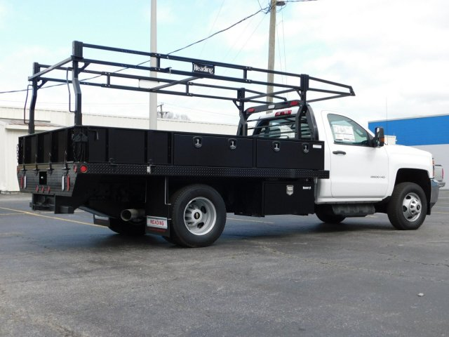 2017 Silverado 3500 Regular Cab DRW 4x2,  Reading Contractor Body #M171173 - photo 2