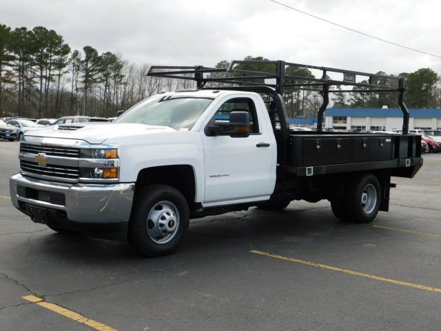 2017 Silverado 3500 Regular Cab DRW 4x2,  Reading Contractor Body #M171173 - photo 7