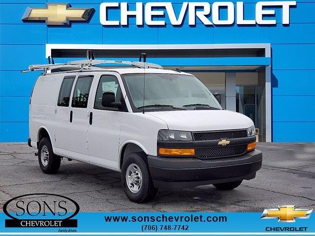 2021 Chevrolet Express 2500 4x2, Masterack Upfitted Cargo Van #9289 - photo 1