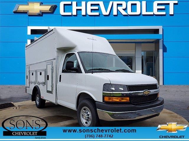 2021 Chevrolet Express 3500 4x2, Rockport Service Utility Van #9394 - photo 1
