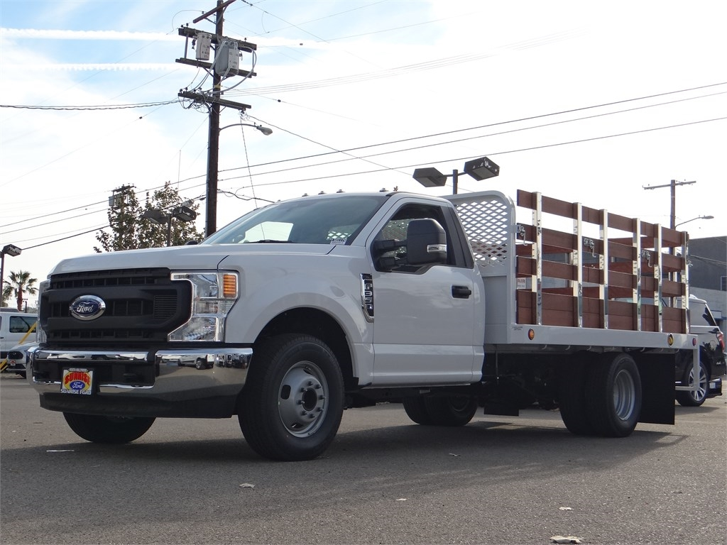 2020 Ford F-350 Regular Cab DRW 4x2, Scelzi Stake Bed #G01174 - photo 1