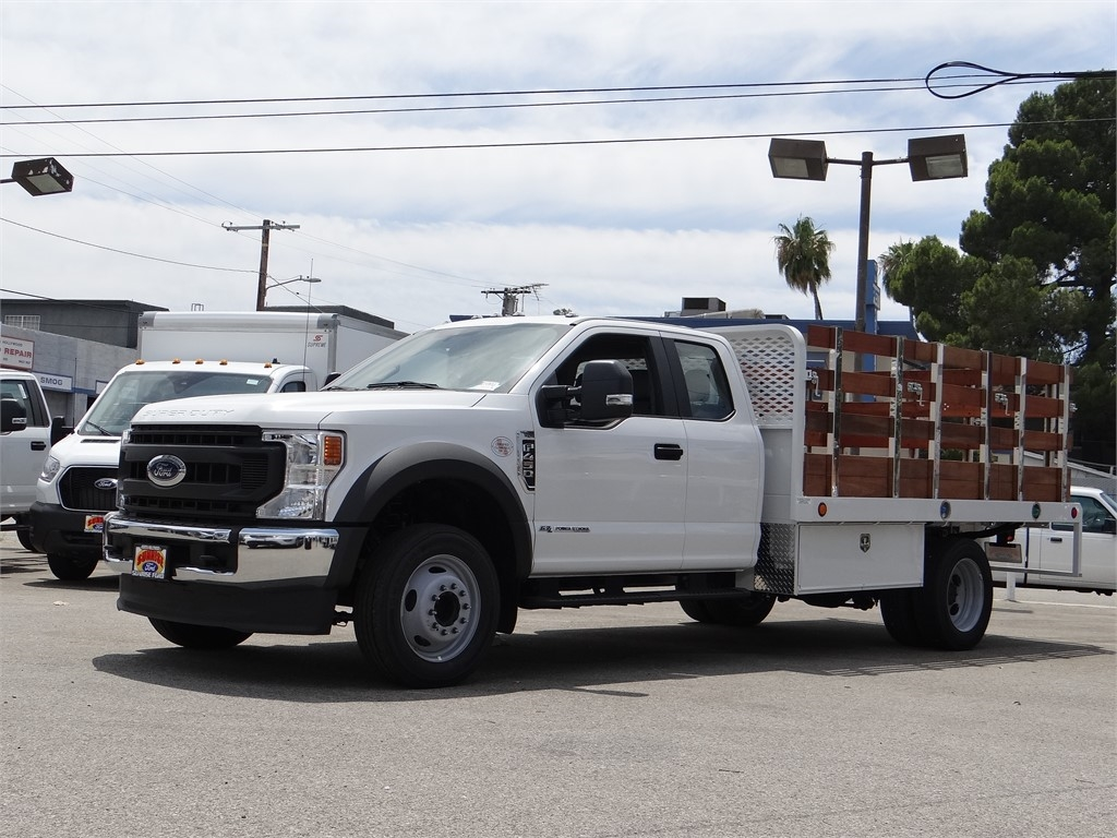 2020 Ford F-450 Super Cab DRW 4x2, Scelzi WFB Stake Bed #G01370 - photo 1