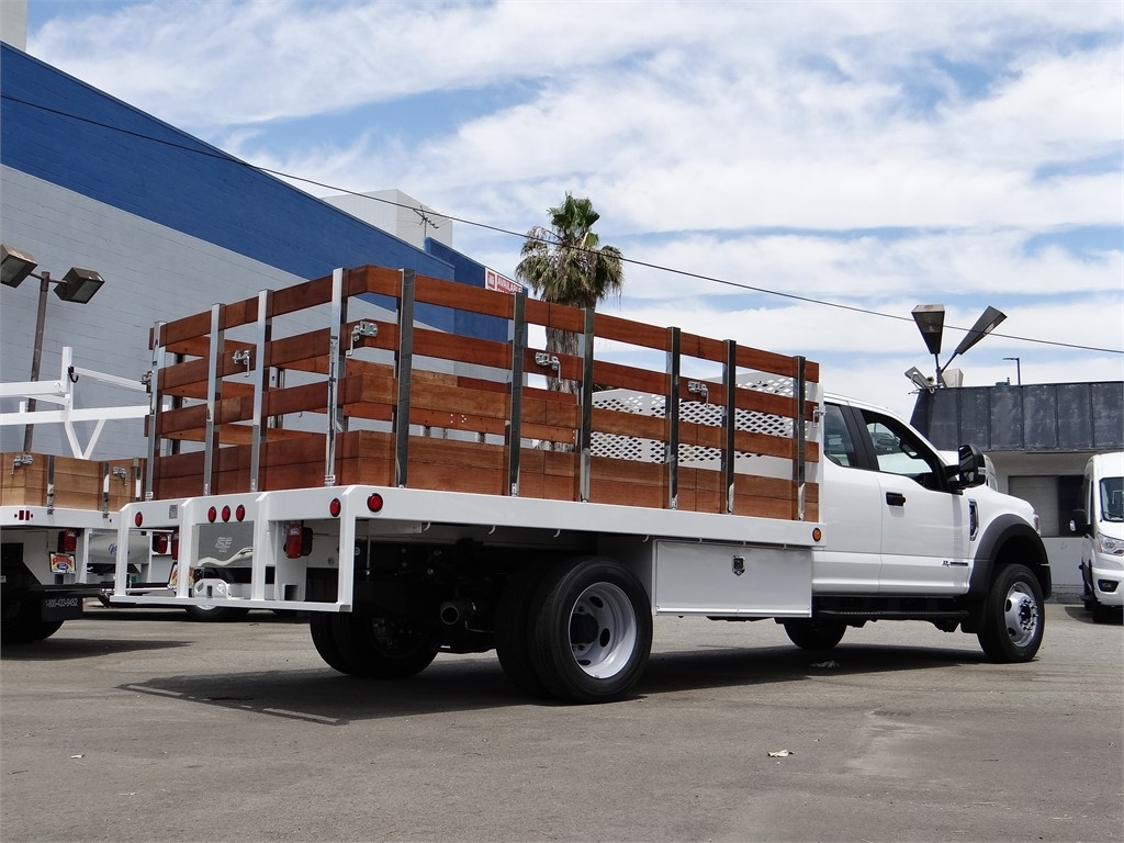 2020 Ford F-450 Super Cab DRW 4x2, Scelzi WFB Stake Bed #G01370 - photo 2