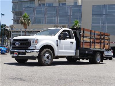 2020 Ford F-350 Regular Cab DRW 4x2, Harbor Black Boss Stake Bed #G01515 - photo 1