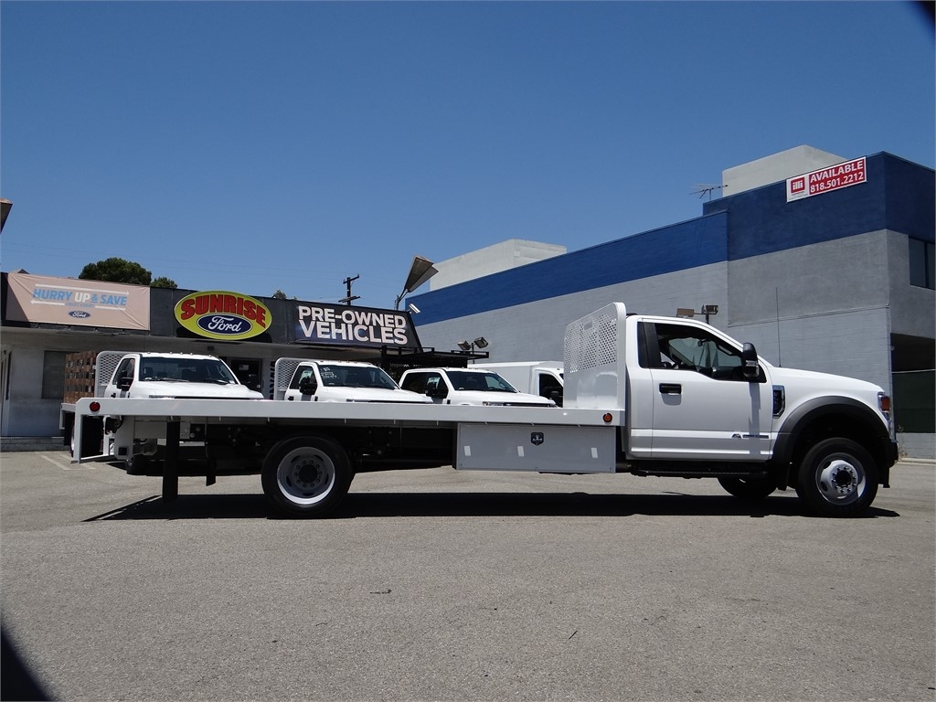 2020 Ford F-550 Regular Cab DRW 4x2, Scelzi Platform Body #G01596T - photo 10