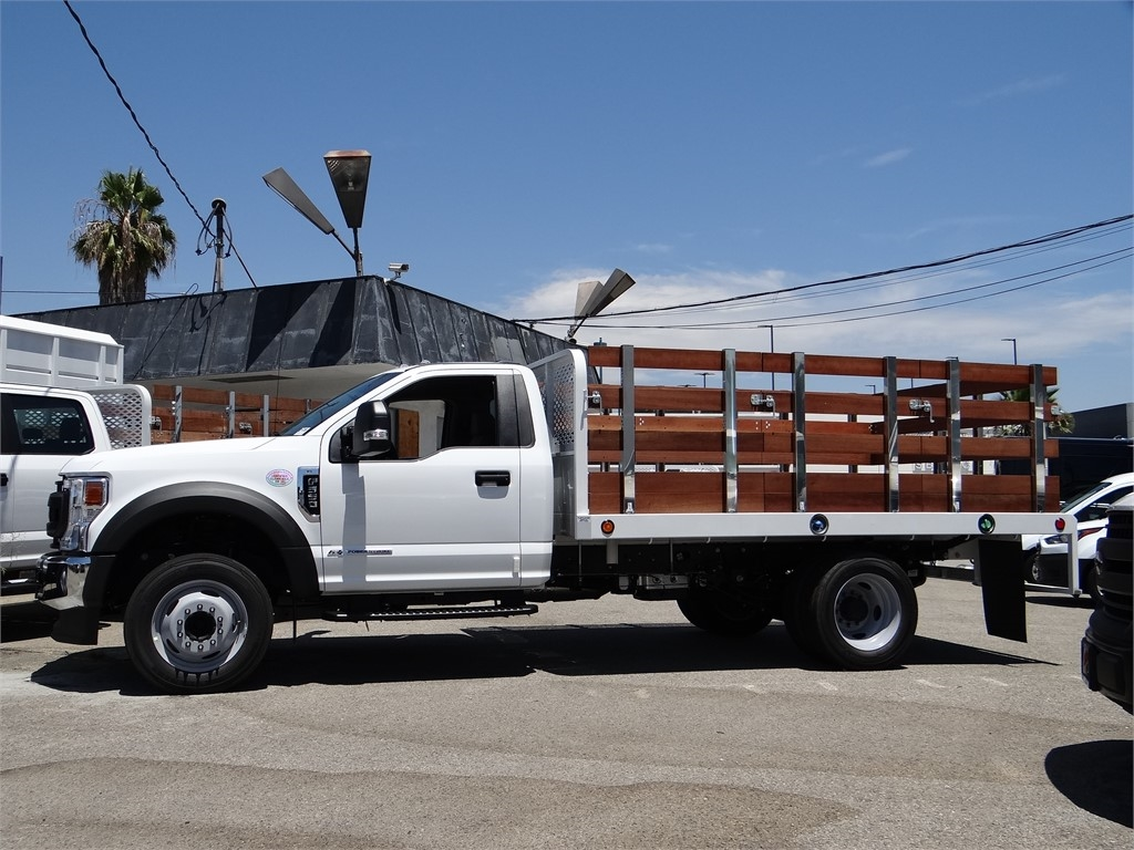 2020 Ford F-550 Regular Cab DRW 4x2, Scelzi WFB Stake Bed #G01677 - photo 3