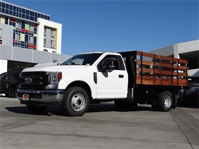 2020 Ford F-350 Regular Cab DRW 4x2, Harbor Black Boss Stake Bed #G02237 - photo 1