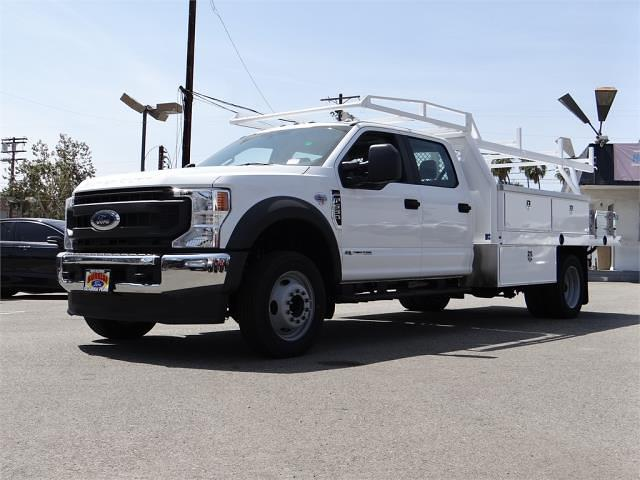 2021 Ford F-550 Crew Cab DRW 4x2, Harbor Contractor Body #G10626 - photo 1