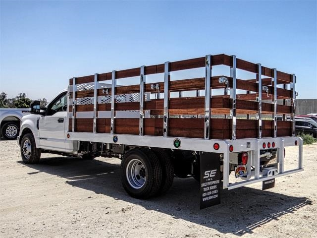 2019 F-350 Regular Cab DRW 4x2,  Scelzi Stake Bed #M92180T - photo 1