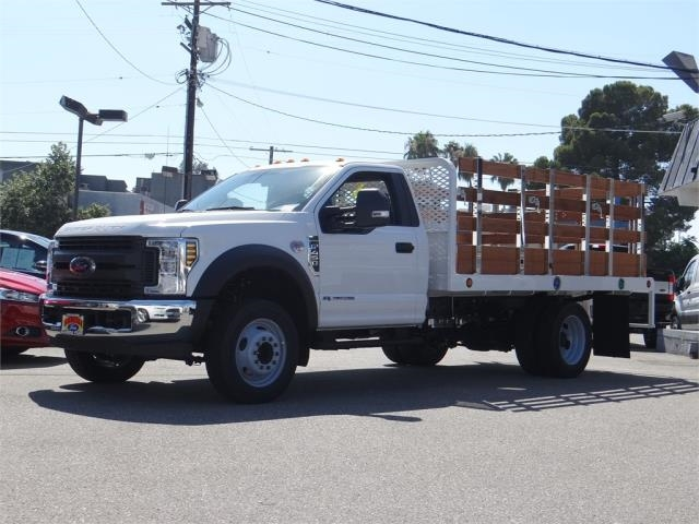 2019 F-450 Regular Cab DRW 4x2,  Scelzi Stake Bed #M92242 - photo 1