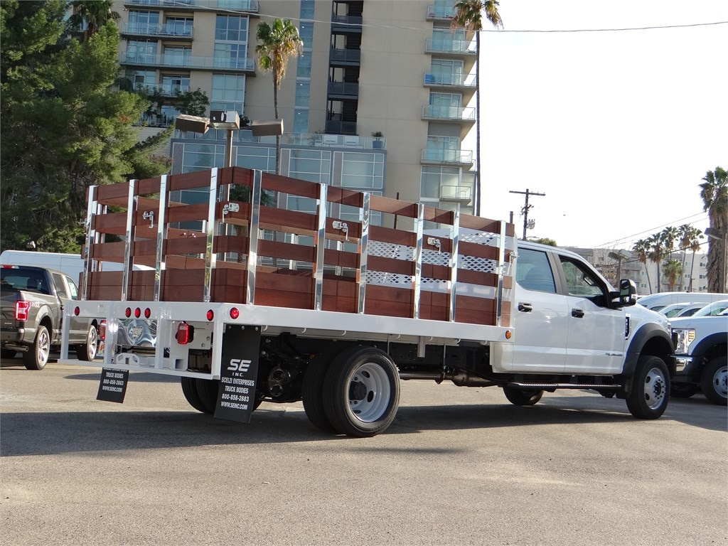 2019 Ford F-450 Crew Cab DRW 4x2, Scelzi Stake Bed #M93058 - photo 1