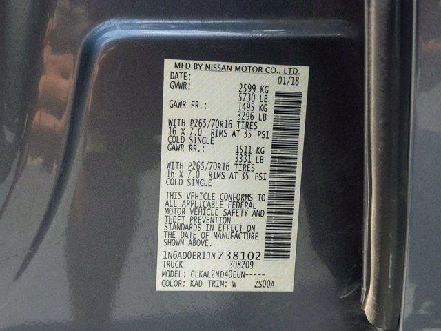 2018 Nissan Frontier Crew Cab 4x2, Pickup #M21539B - photo 40