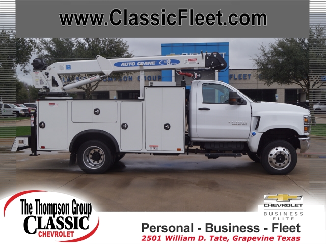 2019 Chevrolet Silverado 6500 Regular Cab DRW 4x4, Auto Crane Titan Mechanics Body #KH805143 - photo 3