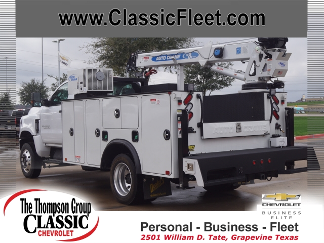 2019 Chevrolet Silverado 6500 Regular Cab DRW 4x4, Auto Crane Mechanics Body #KH805143 - photo 1