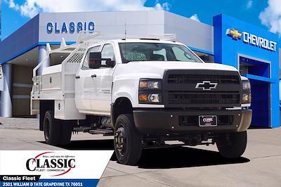 2020 Silverado 5500 Crew Cab DRW 4x4,  RhinoPro Truck Outfitters Contractor Body #LH866279 - photo 1