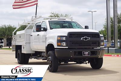 2020 Chevrolet Silverado 5500 Crew Cab DRW 4x4, RhinoPro Truck Outfitters Contractor Body #LH866279 - photo 3