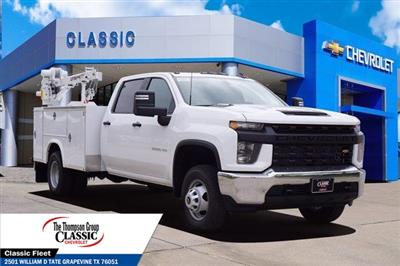 2021 Chevrolet Silverado 3500 Crew Cab AWD, Royal Utility Crane Body Mechanics Body #MF130575 - photo 1