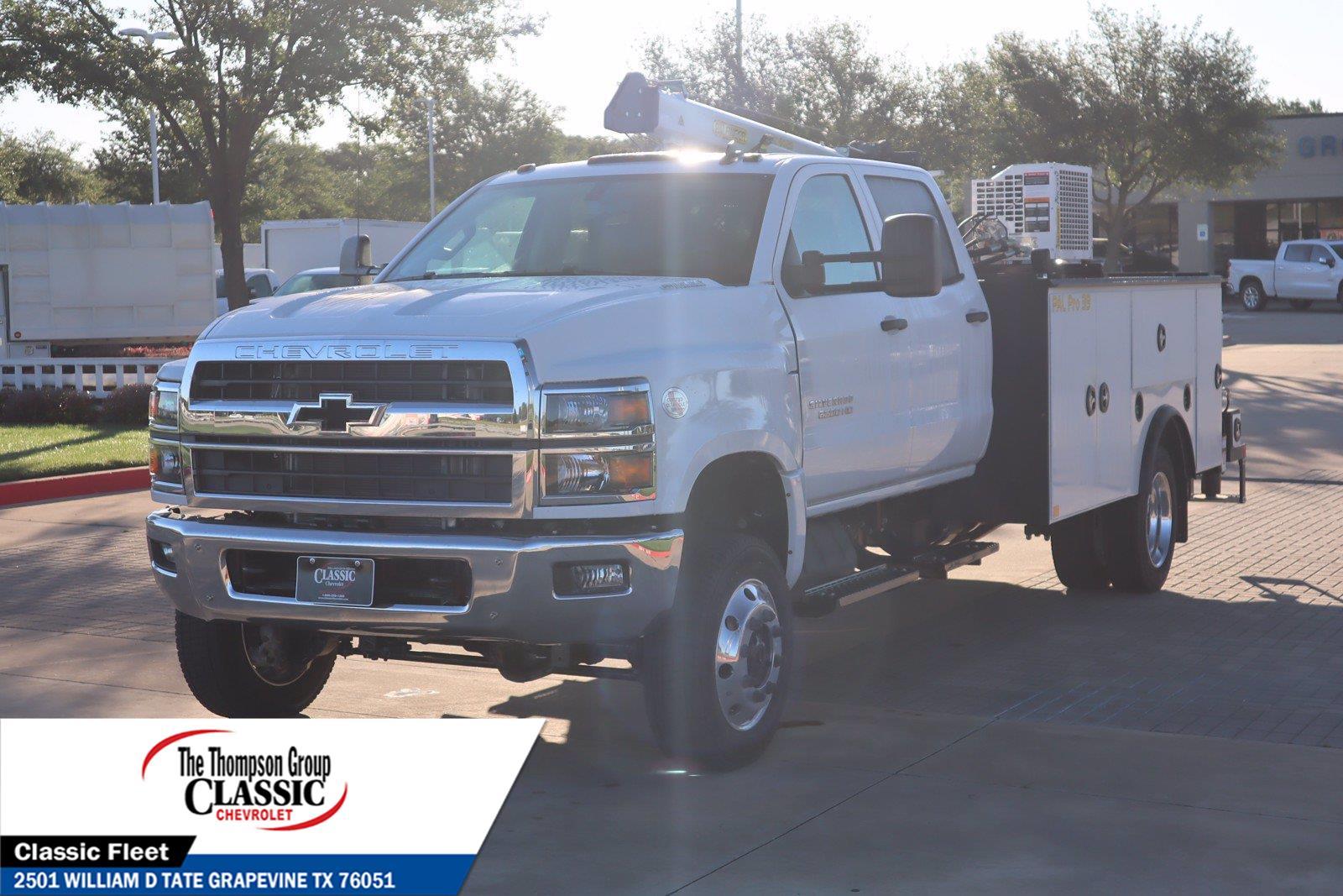 2021 Chevrolet Silverado 5500 Crew Cab DRW 4x4, Palfinger PAL Pro 39 Mechanics Body #MH671088 - photo 5