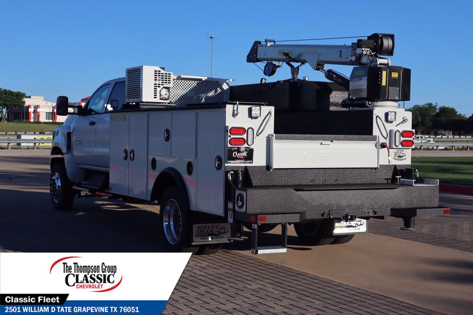 2021 Chevrolet Silverado 5500 Crew Cab DRW 4x4, Palfinger PAL Pro 39 Mechanics Body #MH671088 - photo 7