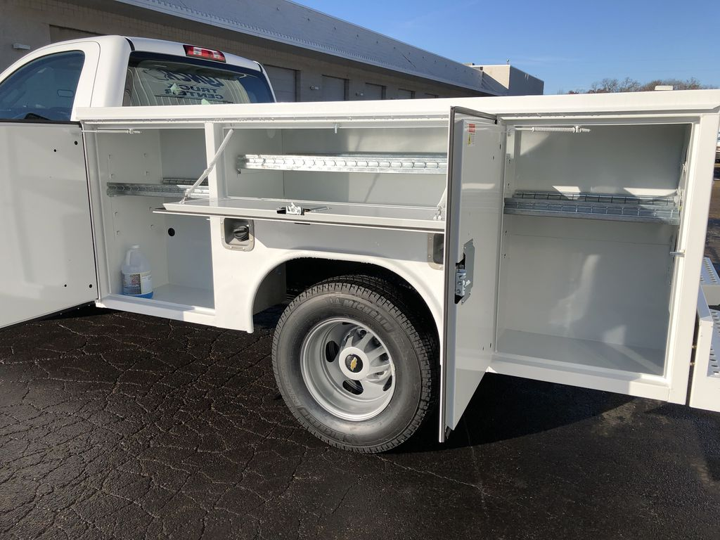 2019 Silverado 3500 Regular Cab DRW 4x4,  Reading SL Service Body #21877T - photo 16